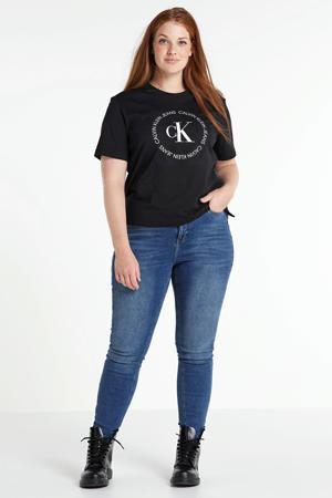 high waist skinny jeans Lora blauw
