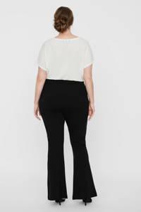 VERO MODA CURVE high waist flared broek zwart, Zwart