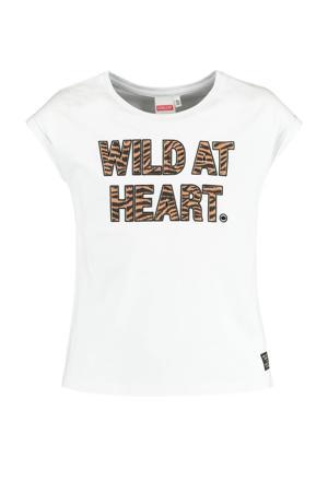 T-shirt Elif met tekst wit