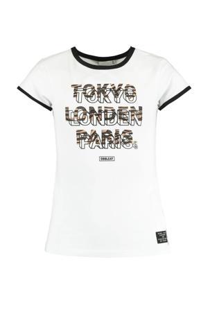 T-shirt Eden met tekst wit