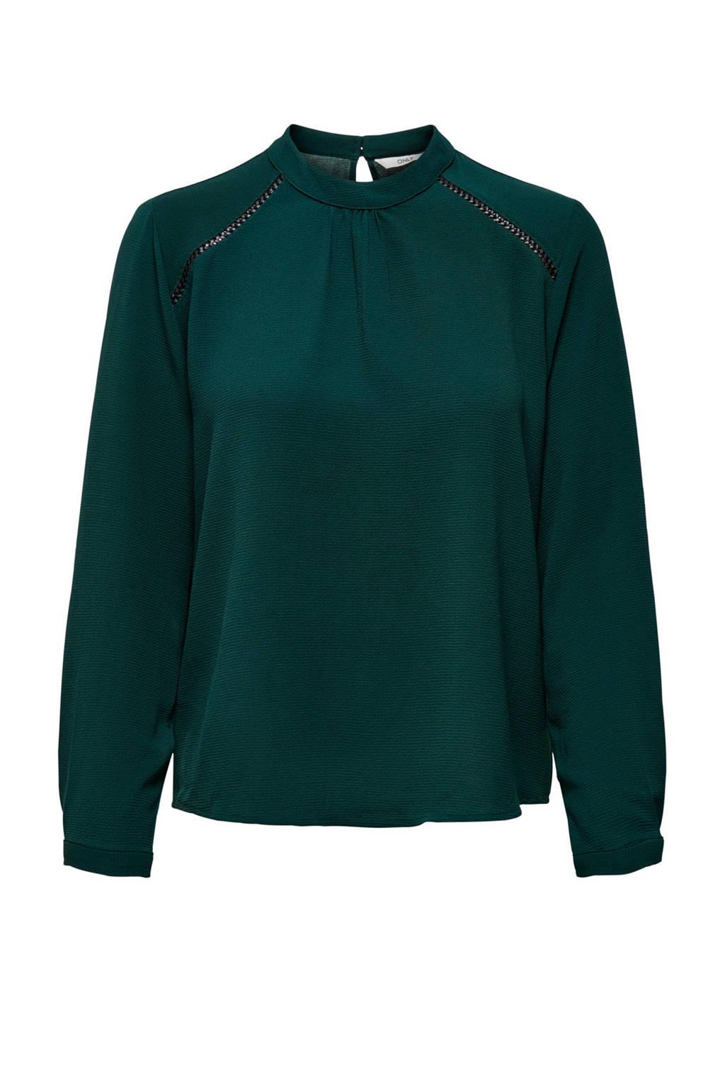ONLY top New met open detail groen, Groen
