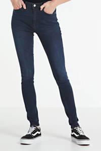 ONLY high waist skinny jeans ONLPAOLA blue black denim, Donkerblauw