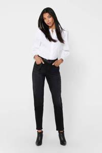 ONLY high waist mom jeans Veneda zwart, Zwart