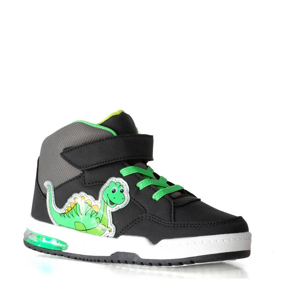 Scapino Blue Box   sneakers met lichtjes zwart/groen, Zwart/groen