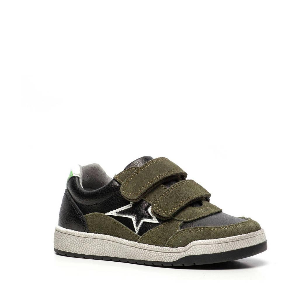 Scapino TwoDay   leren sneakers kaki, Groen