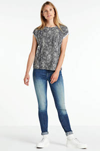 AWARE by VERO MODA T-shirt Ava met all over print blauw, Blauw