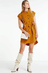 VERO MODA blousejurk Venus met ceintuur bruin, Bruin