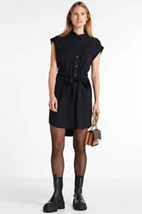 VERO MODA blousejurk Venus met ceintuur zwart, Zwart