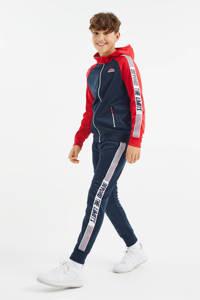 WE Fashion vest met tekst rood/donkerblauw/wit, Rood/donkerblauw/wit