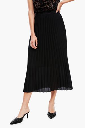 plissé rok met pied-de-poule zwart/wit