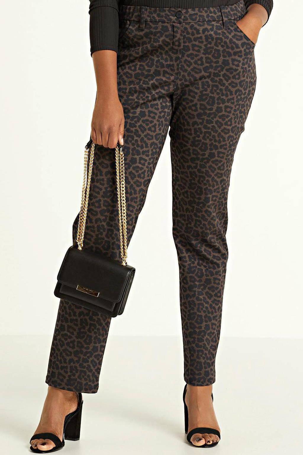 KjBRAND skinny jeans panterprint zwart, 515 leo print