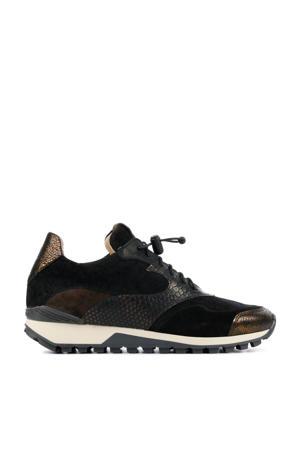 5304011  suède sneakers zwart