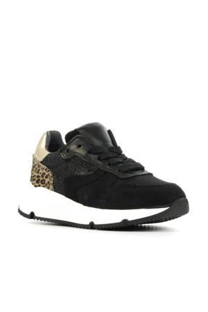 P1984  suède sneakers zwart/goud