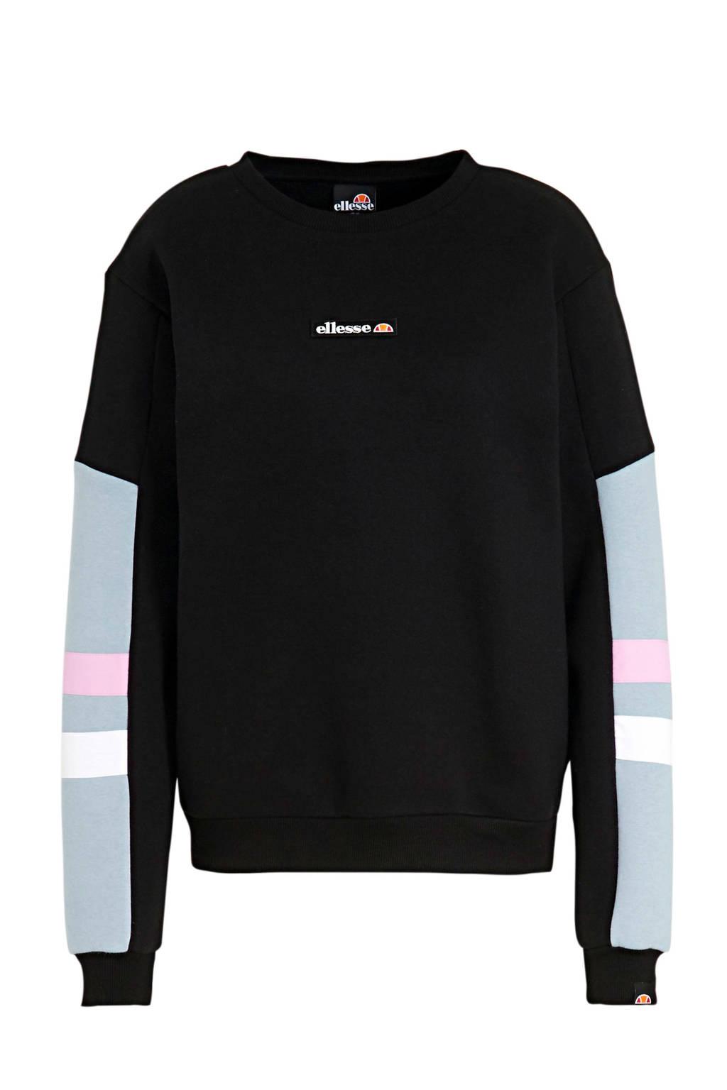 Ellesse sweater Masculosa zwart/blauw, Zwart/blauw