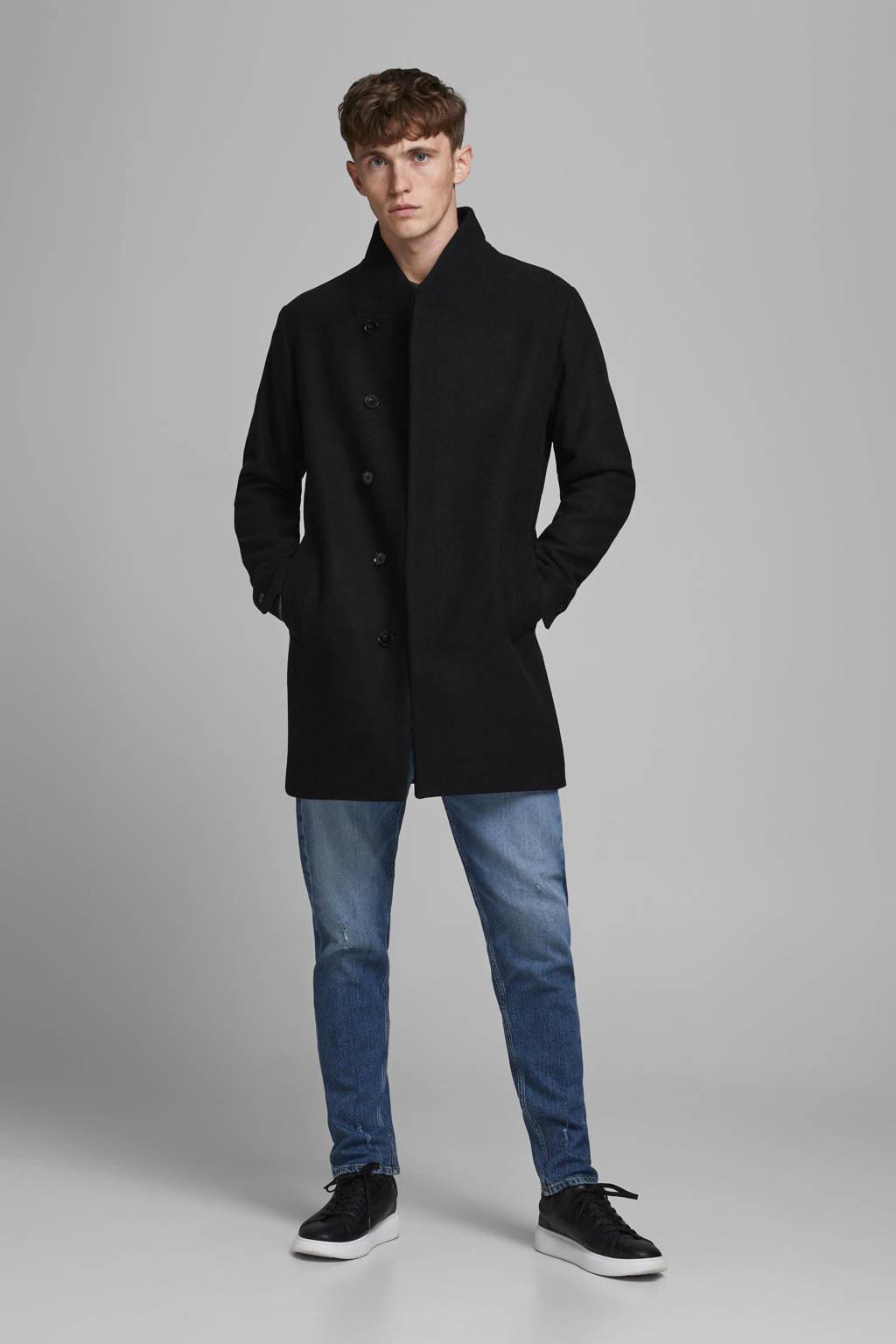 JACK & JONES ESSENTIALS Collum jas met wol zwart, Zwart