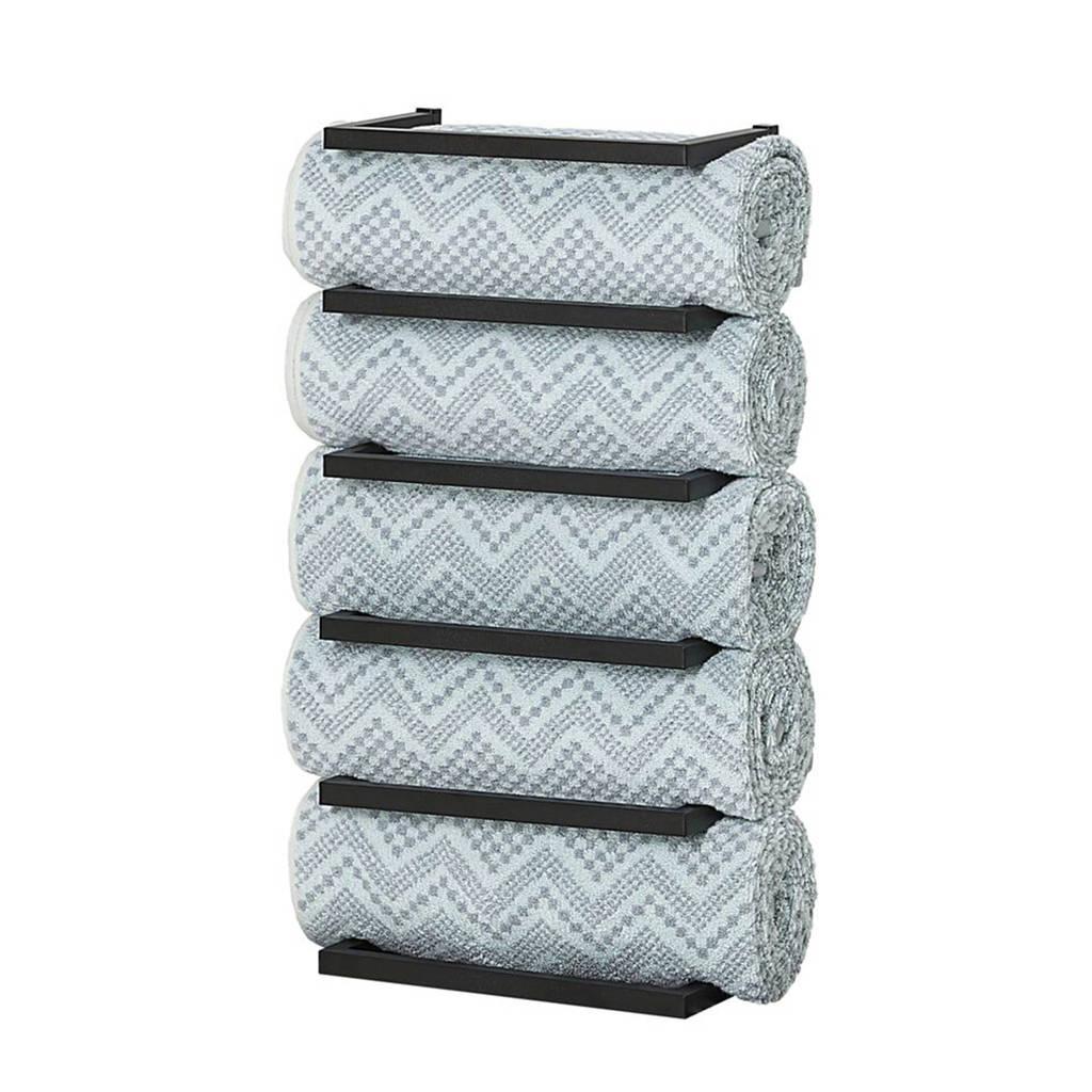 Sealskin handdoekrek Carré (12x24x48 cm), Zwart