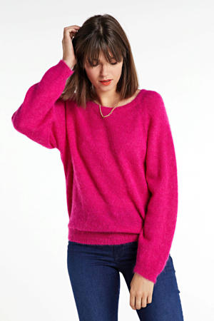 trui Sweater superfine alpaca knit met wol roze