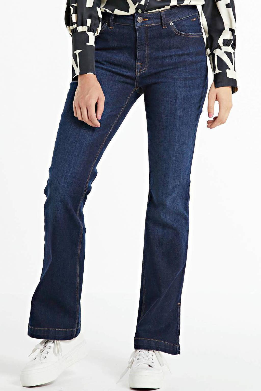 Summum Woman flared jeans Flared jeans julia night denim donkerblauw, Donkerblauw