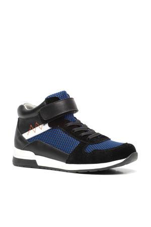 hoge sneakers zwart/blauw