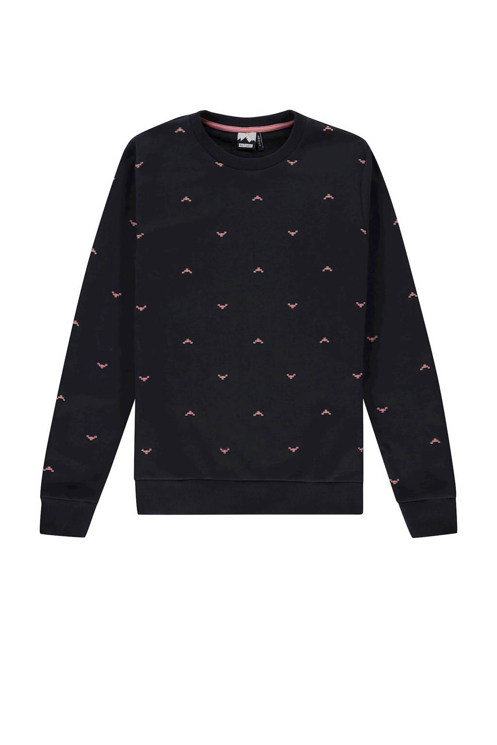 Kultivate sweater met all over print donkerblauw, Donkerblauw