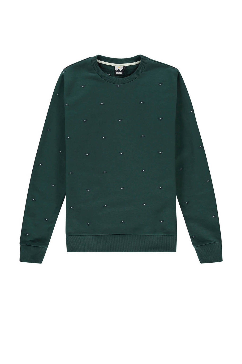 Kultivate sweater met all over print groen, Groen