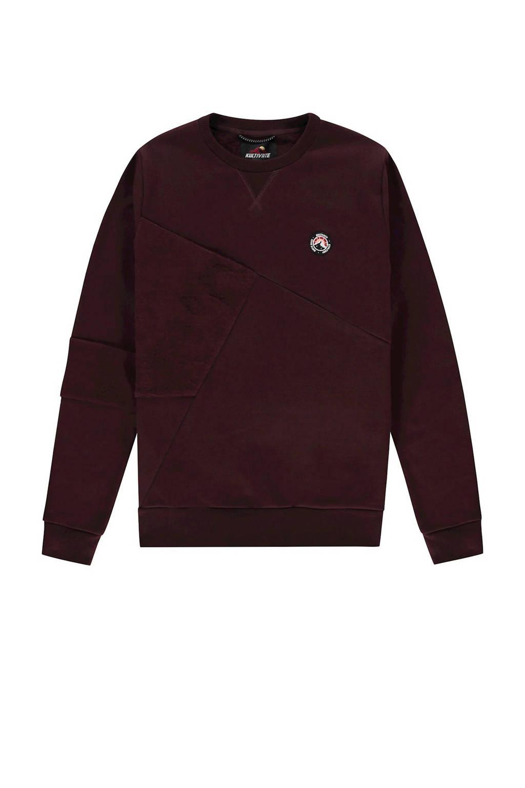 Kultivate sweater aubergine, Aubergine