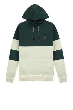 hoodie groen/ecru