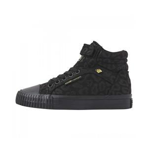 Dee  hoge sneakers met panterprint zwart