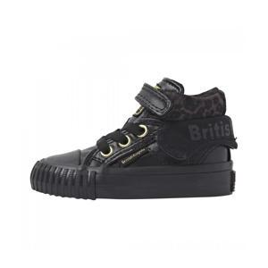 Roco  hoge sneakers zwart/panterprint
