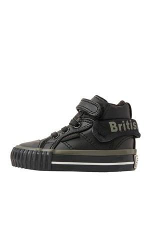 Roco  hoge sneakers zwart/kaki