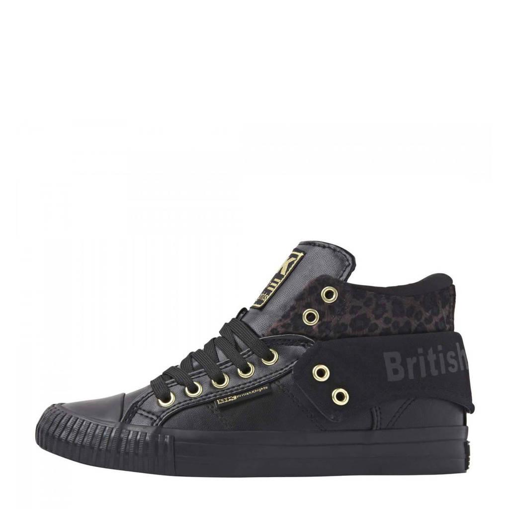 British Knights Roco  hoge sneakers zwart, Zwart