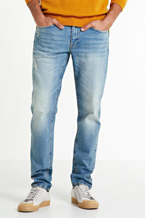 tapered fit jeans Chicago light denim