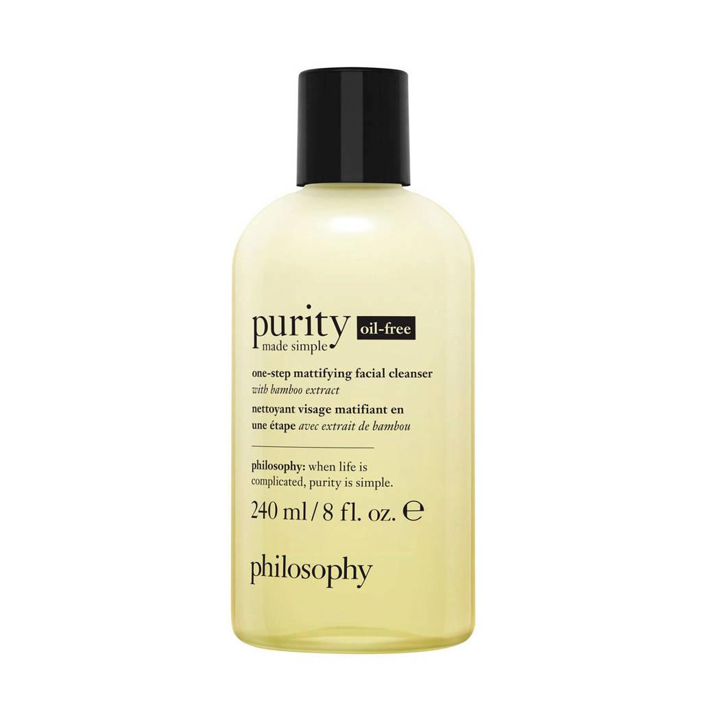 philosophy Purity Made Simple One Step Mattifying olievrije gezichtsreiniger  -  240 ml