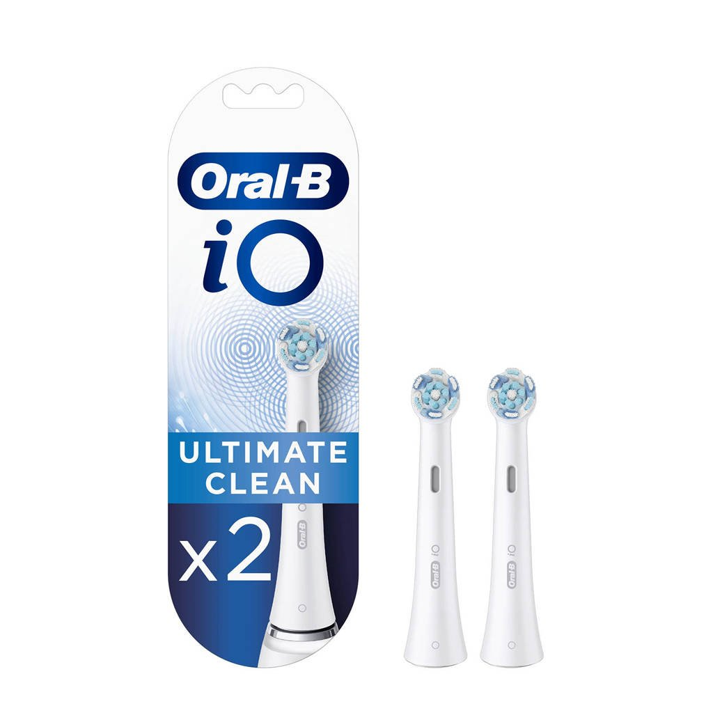 Oral-B iO Ultimate Clean opzetborstels wit (2 stuks), Wit