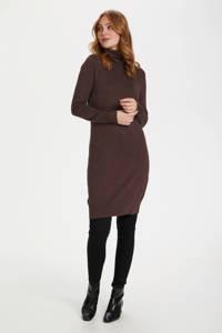 Saint Tropez jurk Mila donkerbruin melange, Donkerbruin