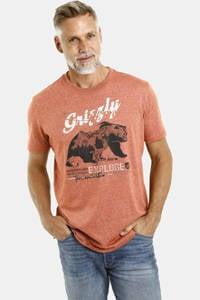 Jan Vanderstorm T-shirt Plus Size Tait met printopdruk zalm, Zalm