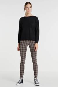 anytime fijngebreide trui zwart, Zwart