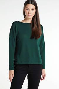 anytime fijngebreide trui groen, Donkergroen