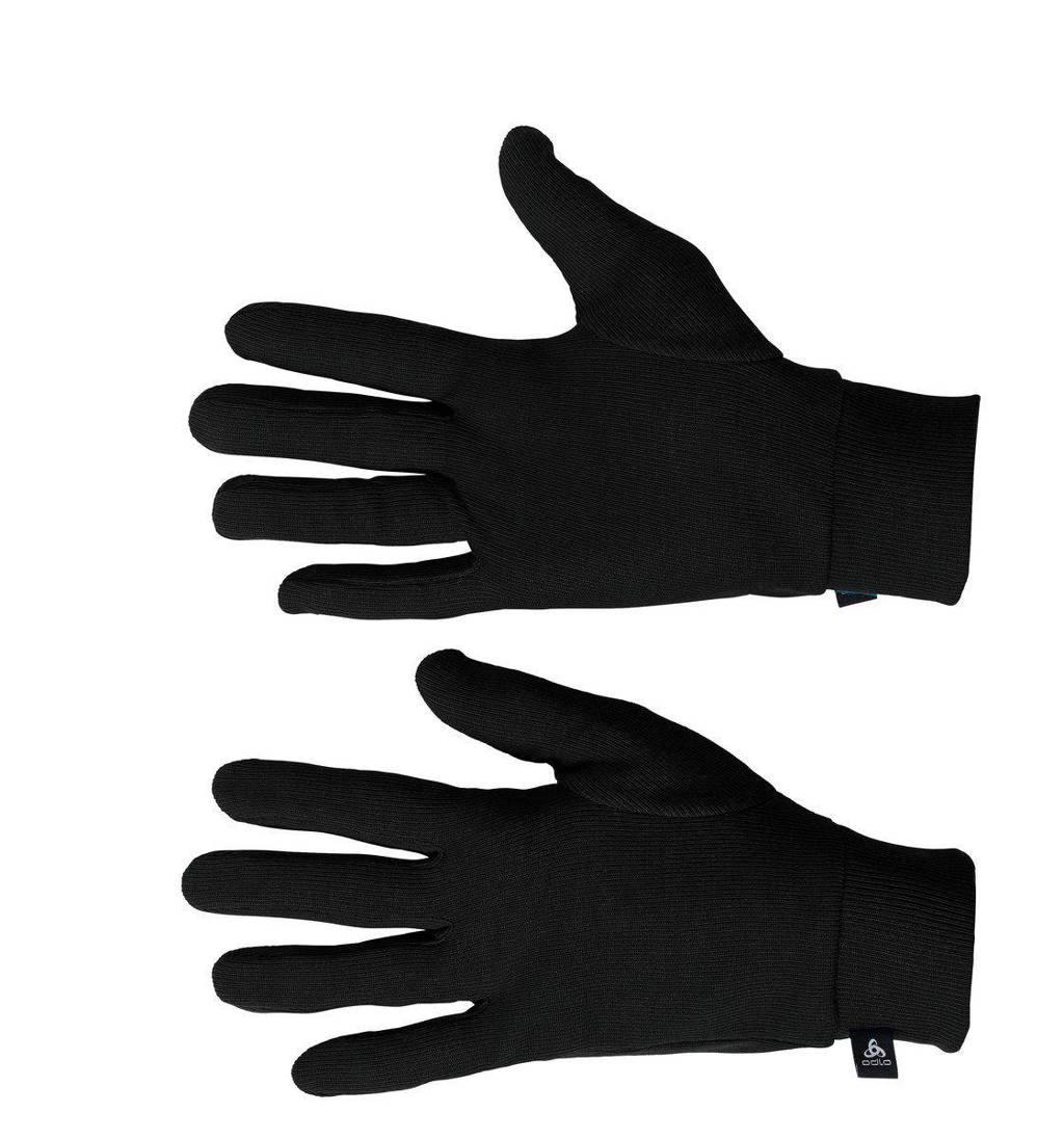 Odlo   sporthandschoenen zwart, Zwart