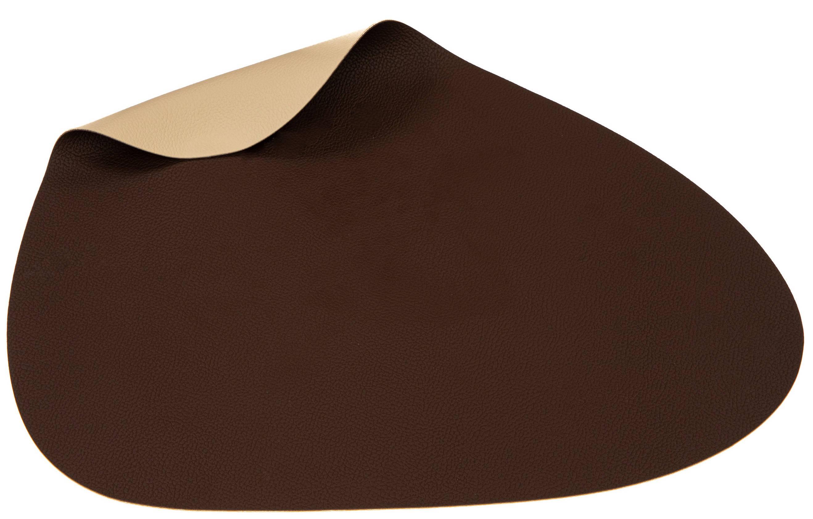 Jay Hill Placemats Leer Bruin Zand Organic 37 x 44 cm 6 Stuks online kopen