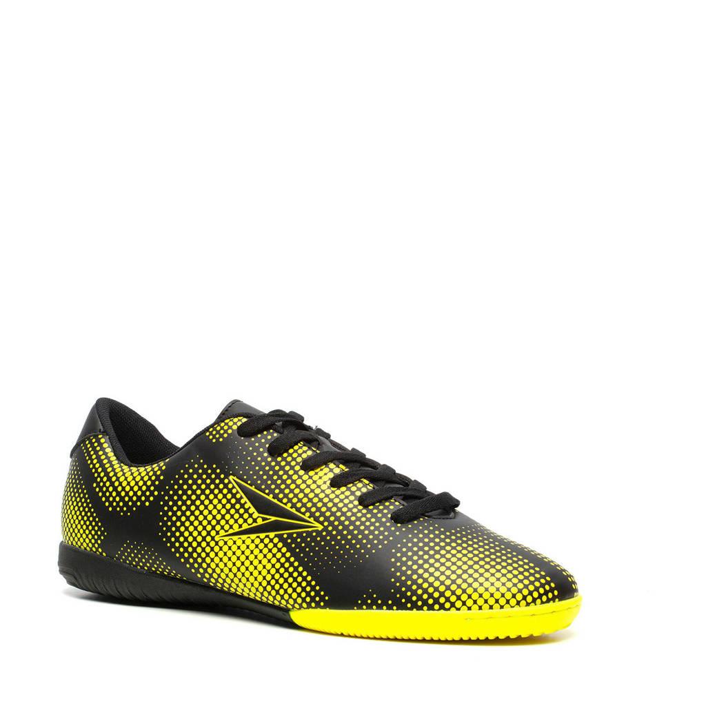 Scapino Dutchy Dott IN Sr. voetbalschoenen zwart/geel, Zwart/geel