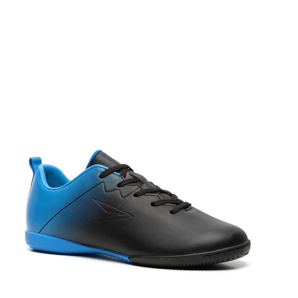Scapino Dutchy   Jr. zaalvoetbalschoenen zwart/kobaltblauw, Zwart/blauw