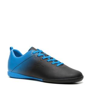 Sr. zaalvoetbalschoenen zwart/kobaltblauw