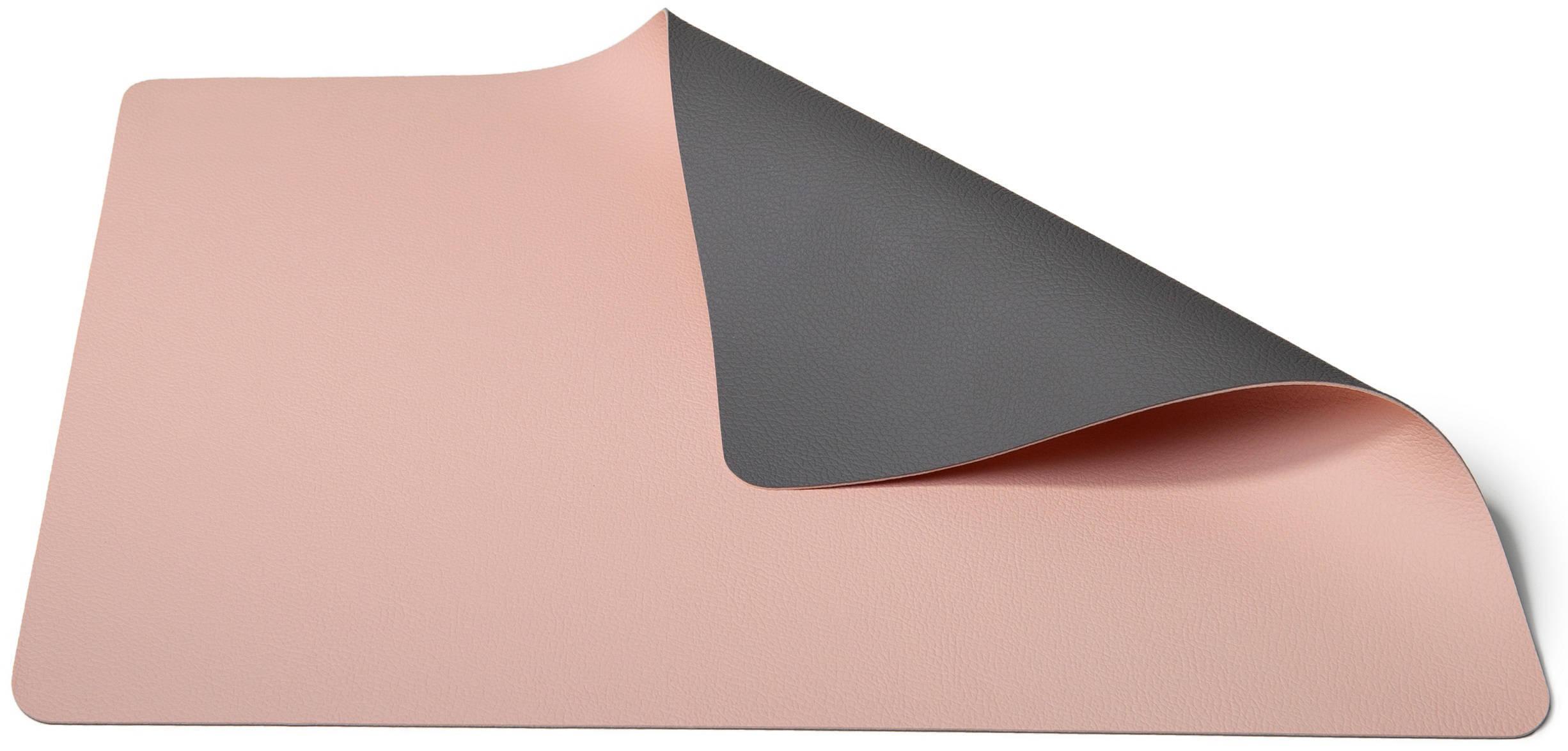 Jay Hill Placemats Leer Donkergrijs Roze 33 x 46 cm 6 Stuks online kopen