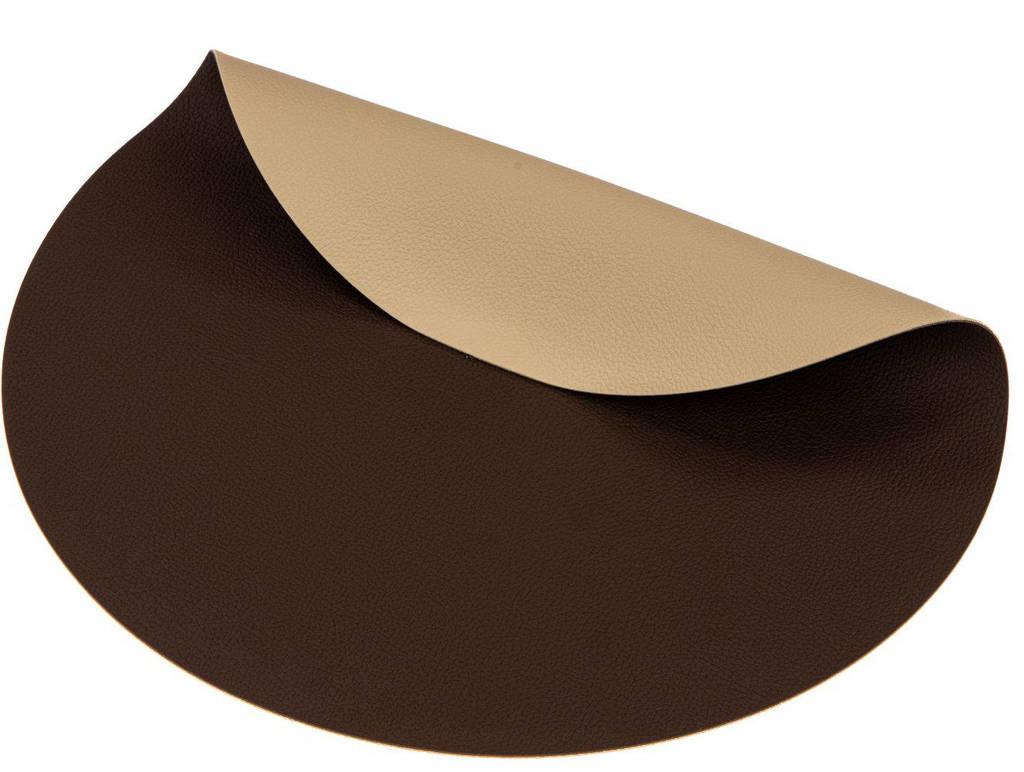 Jay Hill placemat (∅38 cm) (set van 6), Bruin, Ø38