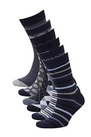 sokken Bamboe (6 paar) marine