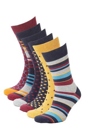 sokken - set van 6 multi
