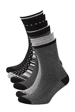 sokken Bamboe (6 paar) zwart