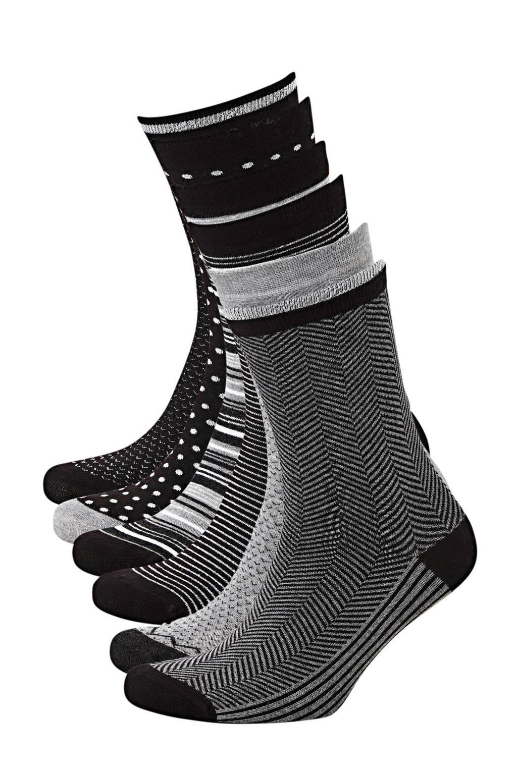Apollo sokken Bamboe - set van 6 zwart, Zwart