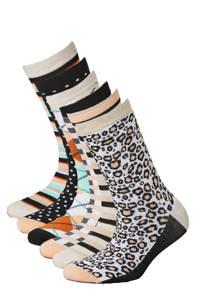 Apollo sokken Bamboe - set van 6 beige, Beige/multi